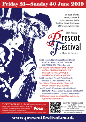 2019 Prescot Festival poster