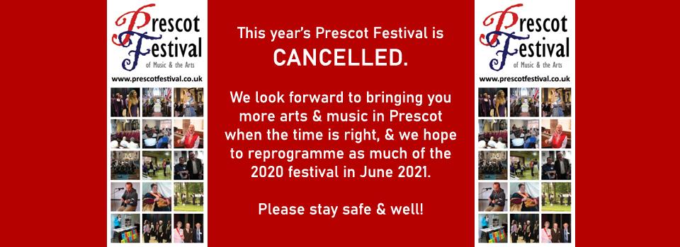 2020 Prescot Festival Cancelled